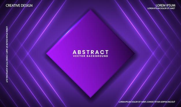 Geometryczne fioletowe tło z dynamicznymi liniami