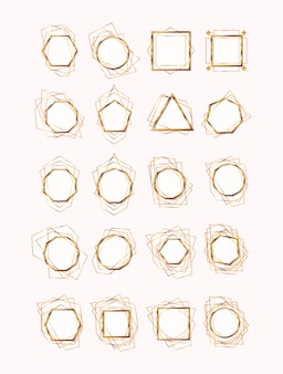 Geometryczne i złote ramki
