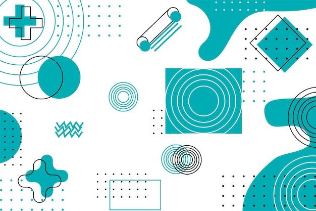 Geometryczne ilustracyjne tło tapety z nowoczesnym zielonym niebieskim kolorem tosca