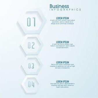 Geometryczne infografika biznesu w odcieniach szarości