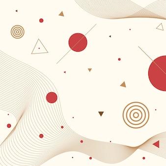 Geometryczne japonia streszczenie tło wektor eps.10