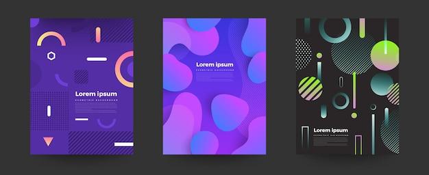 Geometryczne jasne kolory tła i dynamiczne kompozycje kształtów