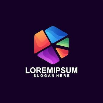 Geometryczne kolorowe nowoczesne logo