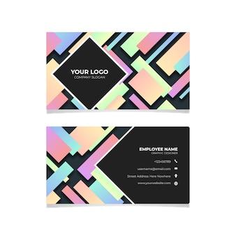 Geometryczne kolorowe wizytówki