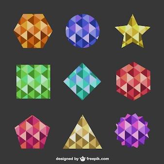 Geometryczne kształty abstrakcyjne logo