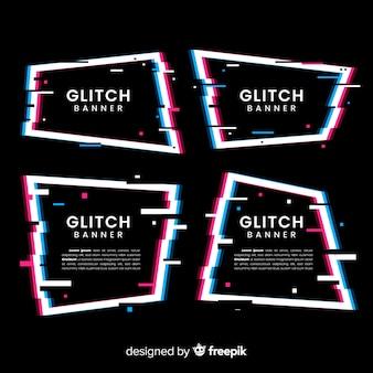 Geometryczne kształty glitch