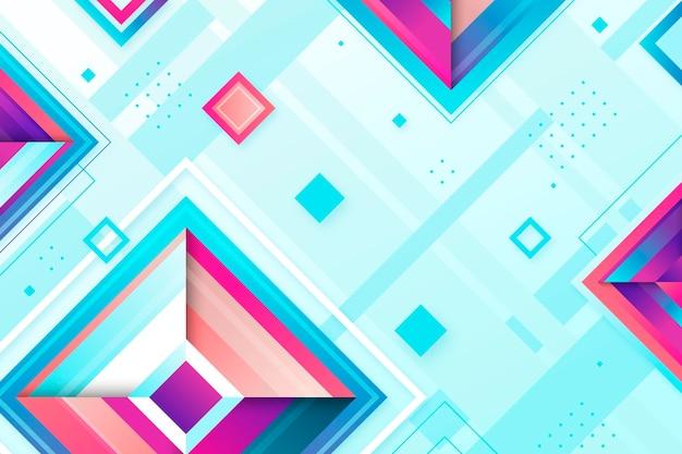 Geometryczne kształty gradientowe tło
