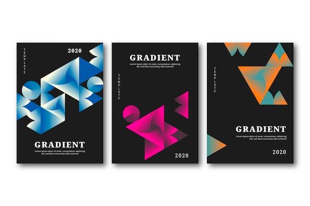 Geometryczne kształty gradientu obejmuje na ciemnym tle