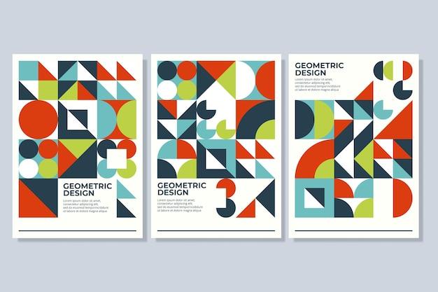 Geometryczne kształty na ogólnej kolekcji okładek biznesowych