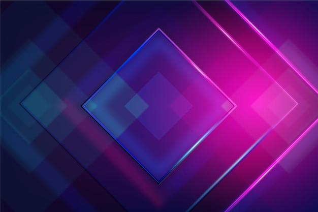 Geometryczne kształty neonów tapeta