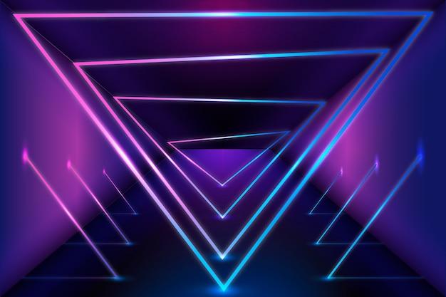 Geometryczne kształty neonów tło