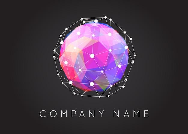 Geometryczne kształty nietypowe i abstrakcyjne logo wektorowe. wielokątne kolorowe logotypy.