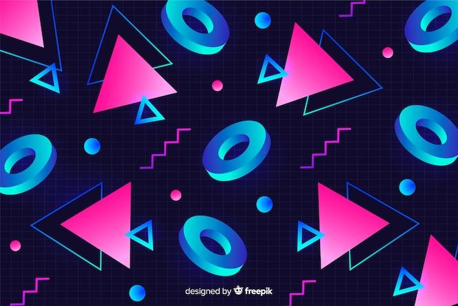 Geometryczne kształty retro tło