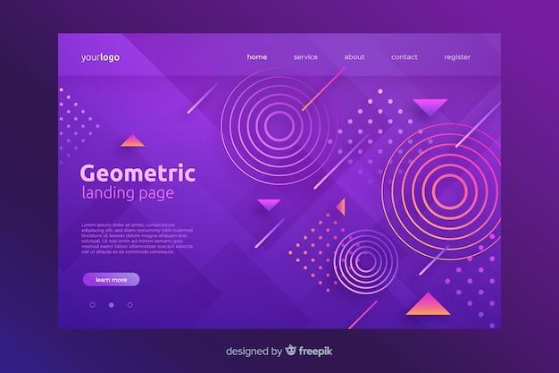 Geometryczne kształty szablon strony docelowej