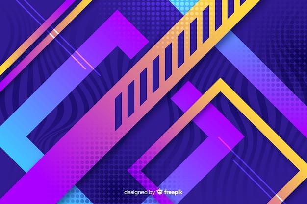 Geometryczne kształty tło gradientowe
