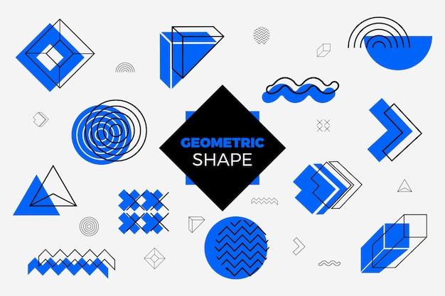 Geometryczne kształty tło w płaskiej konstrukcji