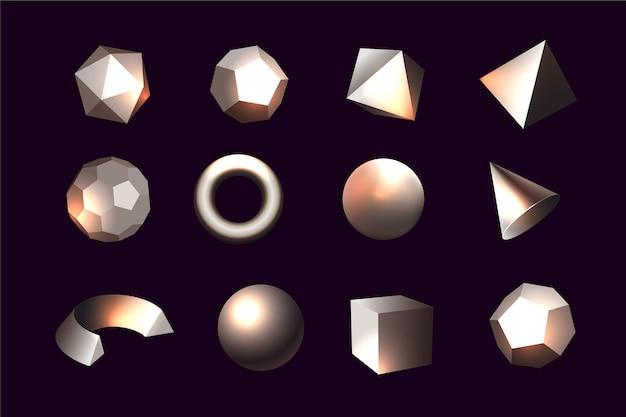 Geometryczne kształty w efekcie 3d