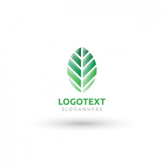 Geometryczne liść logo