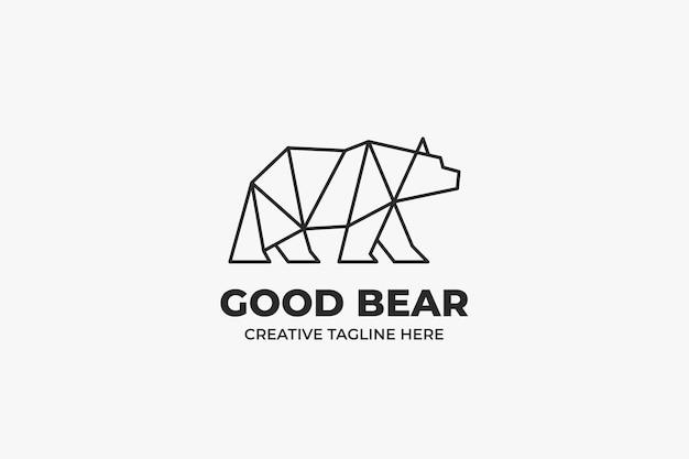 Geometryczne logo firmy monoline niedźwiedź
