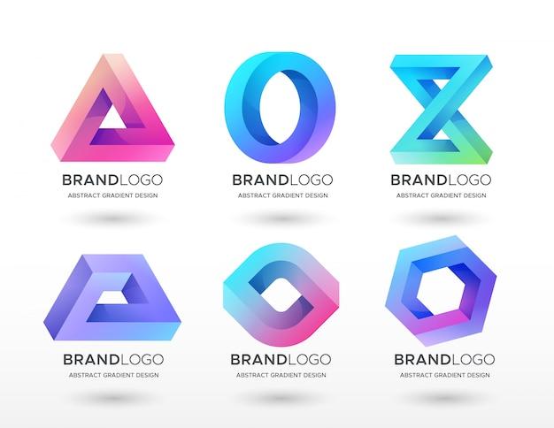 Geometryczne logo gradientu