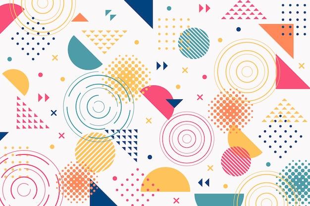 Geometryczne memphis kształtuje tło