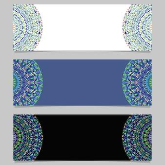 Geometryczne poziome streszczenie kamień mandali transparent zestaw