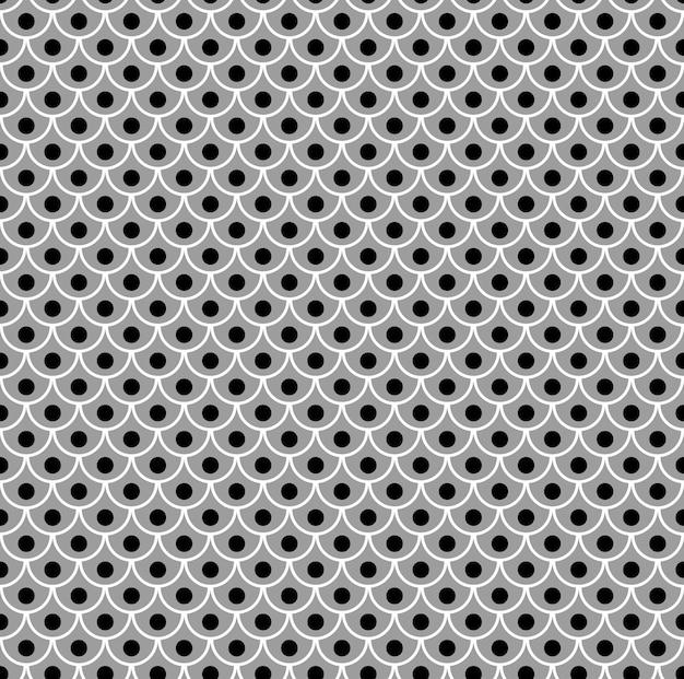 Geometryczne rybie łuski chiński bezszwowy wzór falista dachówka nowoczesna powtarzająca się stylowa tekstura