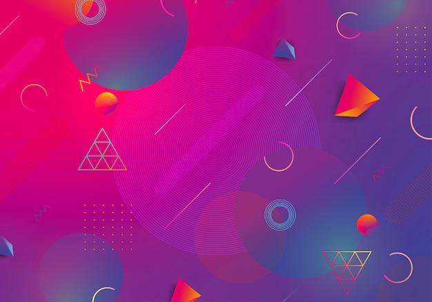 Geometryczne streszczenie tło z modną dekoracją