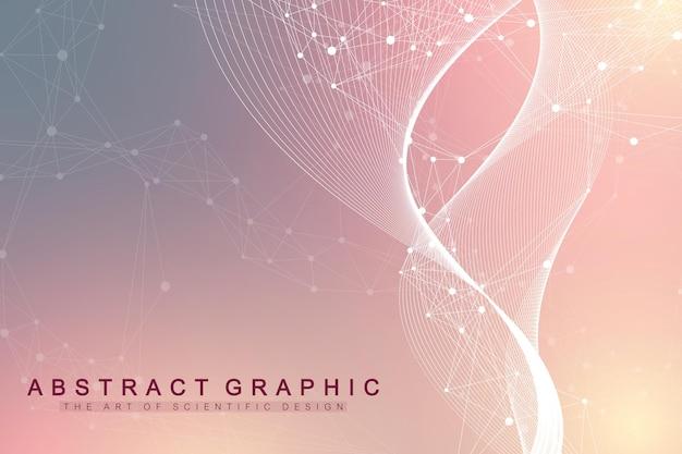 Geometryczne streszczenie tło z połączonymi liniami i kropkami