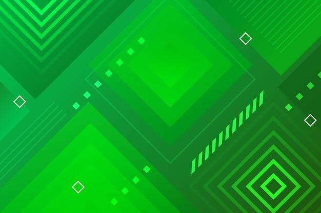 Geometryczne streszczenie zielone tło