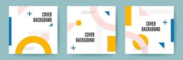Geometryczne tapety koła. modna kompozycja kształtów gradientowych.