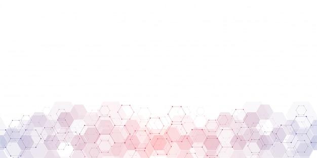 Geometryczne tekstury tła ze strukturami molekularnymi i inżynierii chemicznej.