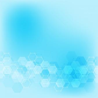 Geometryczne tekstury tła ze strukturami molekularnymi i inżynierii chemicznej