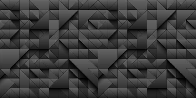 Geometryczne tło czarnego trójkąta