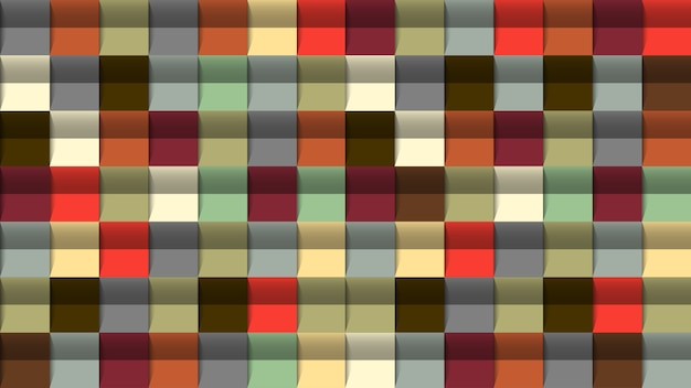 Geometryczne tło, efekt 3d, kolory retro