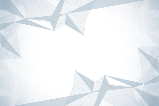 Geometryczne tło graficzne. kompleks dużych zbiorów danych ze związkami. cyfrowa wizualizacja danych.