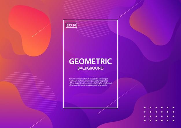 Geometryczne tło. kompozycja płynnych kształtów. ilustracja