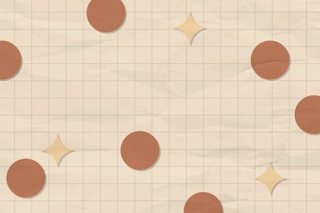 Geometryczne tło, kształty tonów ziemi z wektorem siatki