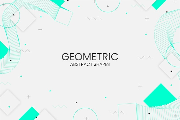 Geometryczne tło memphis z abstrakcyjnymi kształtami