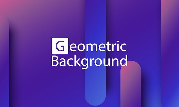Geometryczne tło. minimalny abstrakcyjny projekt okładki. kreatywne kolorowe tapety. modny plakat gradientowy. ilustracja wektorowa.
