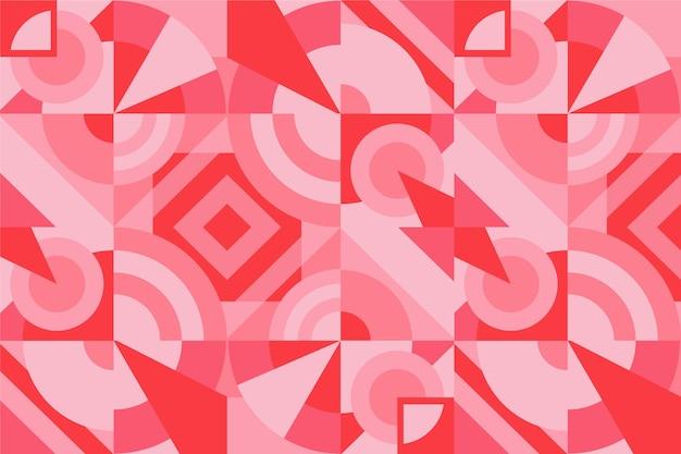Geometryczne tło muralu