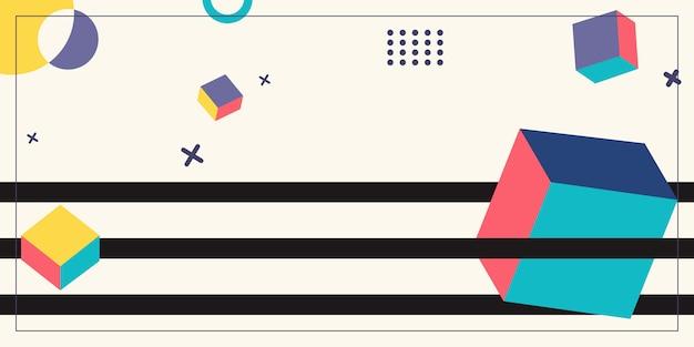 Geometryczne tło styl memphis