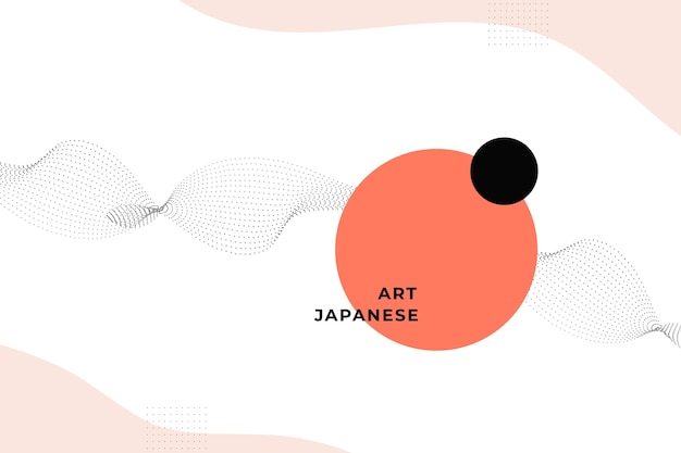 Geometryczne tło w japońskim stylu