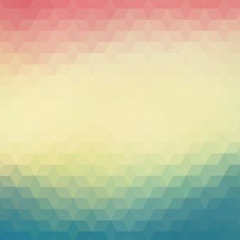 Geometryczne tło w odcieniach niebieskim i czerwonym