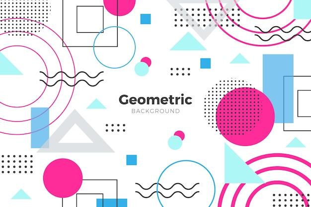 Geometryczne tło w płaskiej konstrukcji