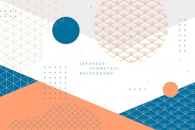 Geometryczne tło w stylu japońskim