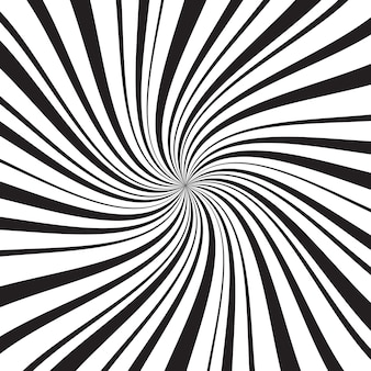 Geometryczne tło z cienkimi i grubymi promieniami, liniami lub paskami wirującymi wokół środka