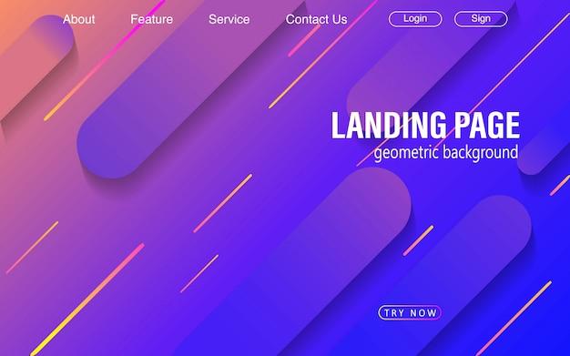 Geometryczne tło z fajnym gradientem dla strony docelowej witryny