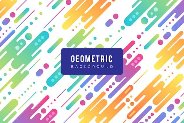 Geometryczne tło z kolorowych kształtów w płaskiej konstrukcji