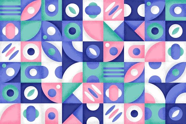 Geometryczne tło z kolorowymi kształtami